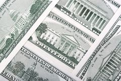 American dollars - reverse side, a background. American dollars - reverse side, a business background stock image