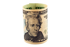 American dollars rolled up Stock Photography