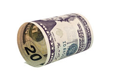 American dollars rolled up Royalty Free Stock Photography