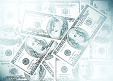 American dollars, soft backround for business cards Stock Images