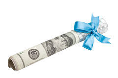 American dollars tied with ribbon Stock Photography