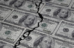 American Dollars Torn or Ripped Royalty Free Stock Photo