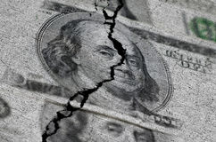 American Dollars Torn or Ripped Royalty Free Stock Image