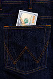 American dollars USD banknotes in jeans pocket Royalty Free Stock Image