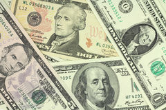 American dollars. Of various face value Royalty Free Stock Image