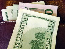 American dollars in wallet Stock Image