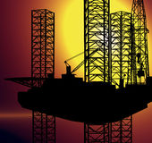 AMERICAN DOMESTIC OFFSHORE OIL GAS INDUSTRY CONCEPT Royalty Free Stock Photography