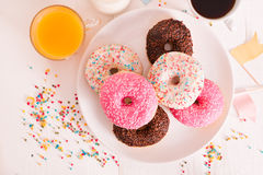 American donuts. Royalty Free Stock Photo