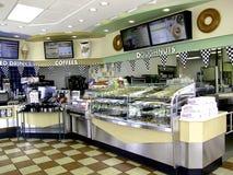 American doughnut shop. Inside an american Krispy Kreme doughnut shop Royalty Free Stock Images