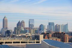 American Dream, Atlanta  Skyline Royalty Free Stock Photography