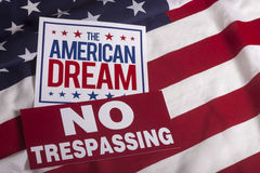 The American Dream US flag NO Trespassing Sign Royalty Free Stock Photography