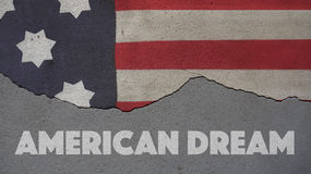 American Dream. Usa Flag Royalty Free Stock Photos