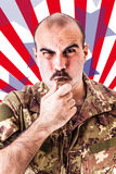 American Drill Sergeant Royalty Free Stock Image