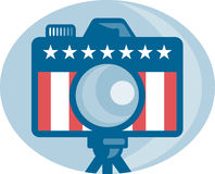 American DSLR Camera Stars and Stripes Flag Royalty Free Stock Photo