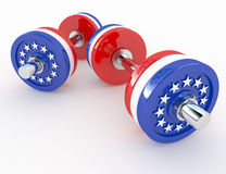 American dumbells Royalty Free Stock Images