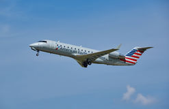 American Eagle Airplane Taking Off. Royalty Free Stock Photography