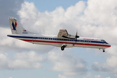 American Eagle ATR-72 Aircraft Stock Photography