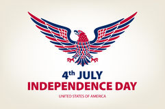 American eagle background. easy to edit vector illustration of eagle with American flag for Independence day Stock Images