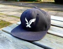American Eagle baseball cap summer bench relax