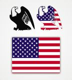 American eagle and flag Royalty Free Stock Photo