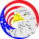 American eagle flag button Stock Images
