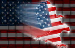 American Eagle flag weaving Stock Photos