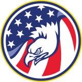 American Eagle Flying USA Flag Retro Stock Photography