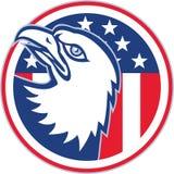 American Eagle Head Circle Retro Royalty Free Stock Photo