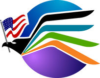 American eagle logo. Illustration art of a American eagle logo with isolated background stock illustration