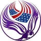 American eagle logo stock photography