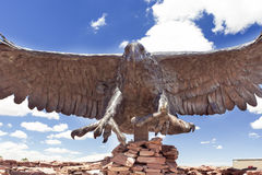 American Eagle made of Metal Standing in Arizona State Museum on Royalty Free Stock Image