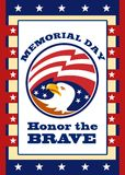 American Eagle Memorial Day Poster Greeting Card Royalty Free Stock Photo
