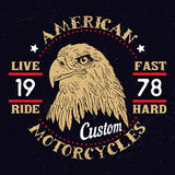 American Eagle Motorcycle Emblem. Stock Photos