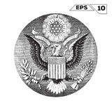 American Eagle on one USA dollar. Bill royalty free illustration