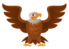 American Eagle with open spread wings. Royalty Free Stock Photos