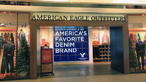American Eagle Outfitters shop in hong kong Royalty Free Stock Image