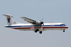 American Eagle regional turboprop airplane Royalty Free Stock Photo