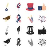American eagle, ribbon, salute. The patriot day set collection icons in black,cartoon style vector symbol stock. Illustration Stock Photo
