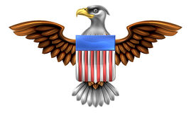 American Eagle Shield Stock Photo