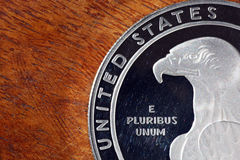 American eagle on silver coin Stock Images