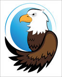 American Eagle. Vector image of american eagle on a white background Royalty Free Stock Photo