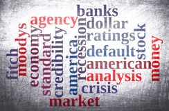 American economy word cloud Royalty Free Stock Images