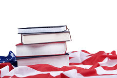 ffdae4499a20 American Educational Issues Photo Concept. Photo of american flag and books  ilustrating american educational issues
