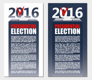 American Election 2016 background. Poster or brochure template. Stock Photography
