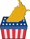 American election ballot box map of USA Royalty Free Stock Image