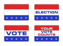 American election button stock illustration