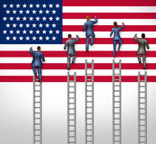 American Election. Concept as a group of candidates from the United States campaigning for president or government elected position as nominees for the Royalty Free Stock Images