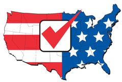 American election map of USA Royalty Free Stock Photos