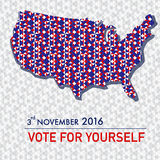American election 2016 poster design set for web and graphic. Design vector. illustration EPS10 Stock Photos