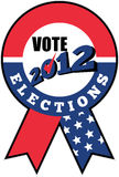 American election USA ribbon tick 2012 Royalty Free Stock Photo